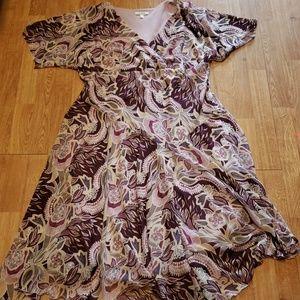 Purple floral summer plus dress sz 16W